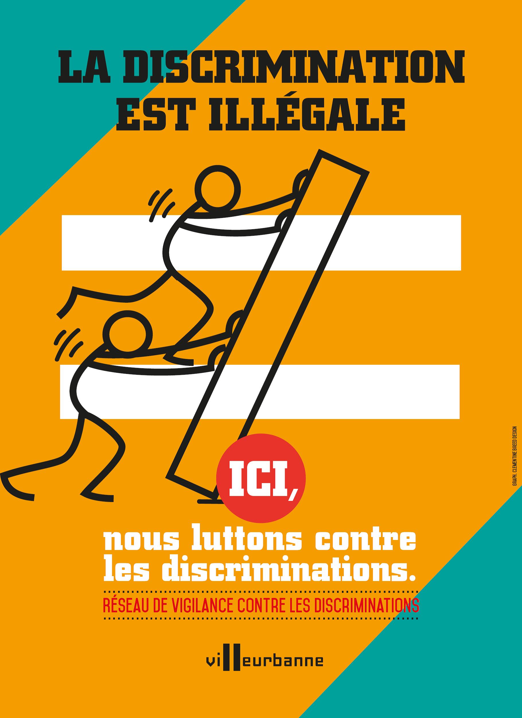 Image affiche la discrimination est illégale