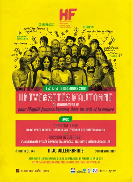 Affiche Universités d'automne HF