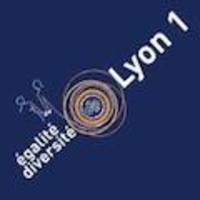Logo égalité diversité Lyon 1 bleu