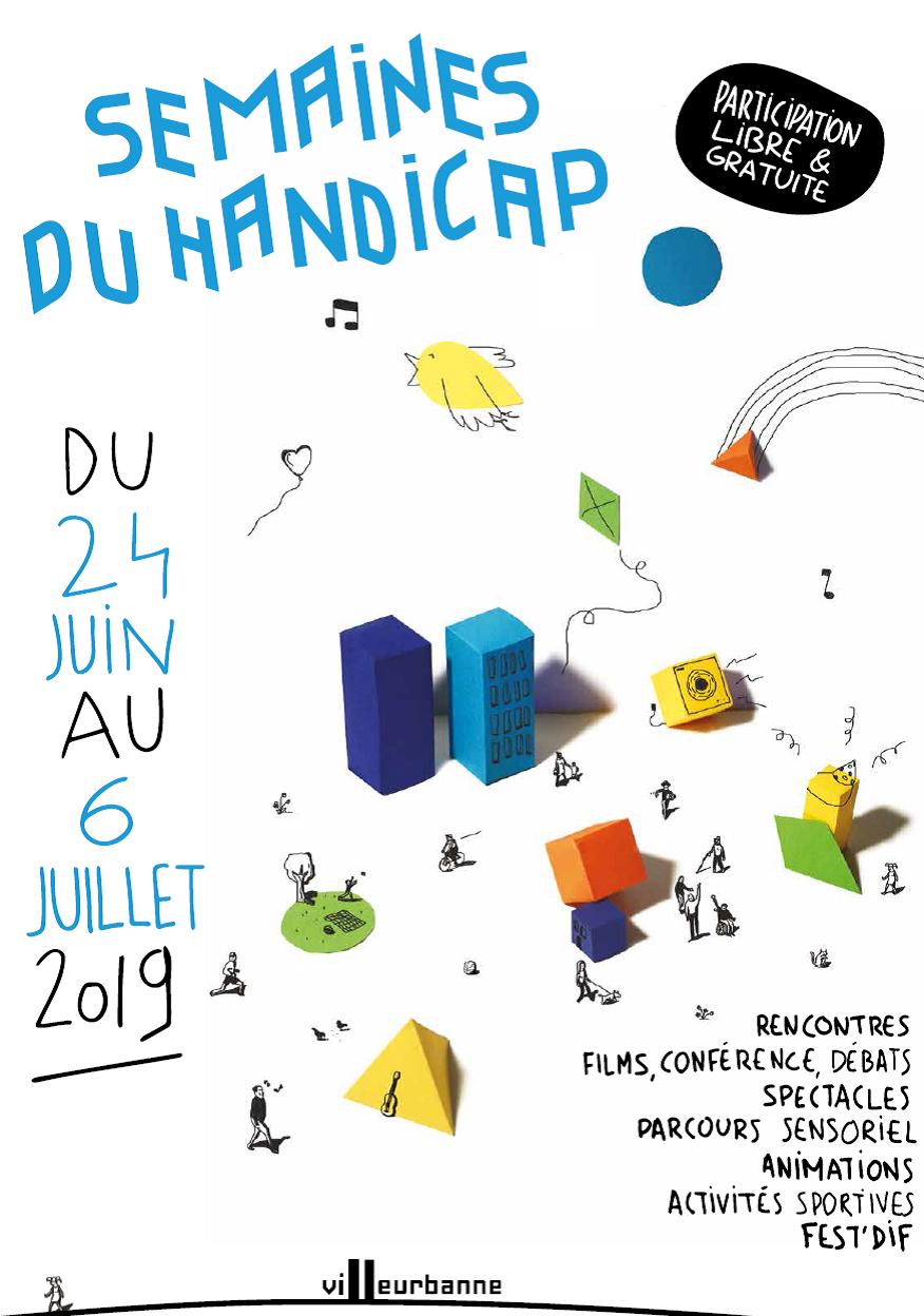 semaines du handicap Villeurbanne juin et juillet 2019 programme